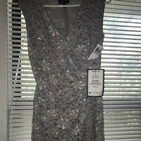 aeee727d6838 connected apparel Dresses | Silver Womens Evening Dress | Poshmark